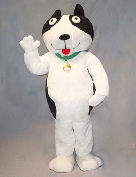 BQ Dog Custom Promotional Mascot Costume Available as Rentale