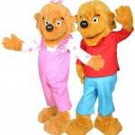 Berenstain Bears - Brother Bear and Sister Bear Promotional Mascot Costume