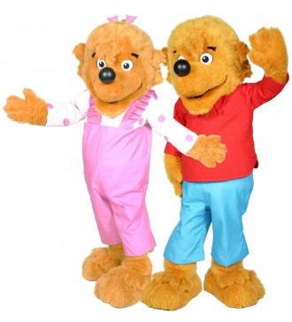 Berenstain Bears - Brother Bear and Sister Bear Custom Promotional Mascot Costume Available as Rental
