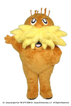 Lorax Custom Promotional Mascot Costume Available