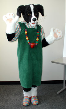 Miss Bindergarten Mascot Costume