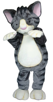 Mittens the Kitten Custom Promotional Mascot Costume Available as Rental