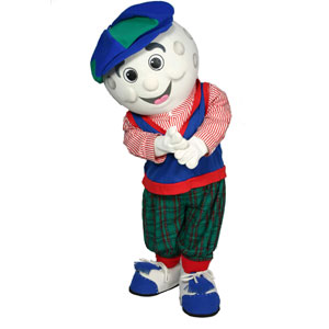 Golf Ball Guy Mascot Costume available as Rental