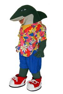 Shark walkabout costume for rent