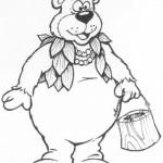 Berry Bear original custom mascot concept sketch