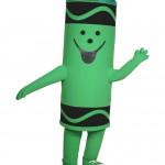 Green Crayola Tip Big Mascot Costume Character