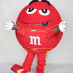 Racing Red M M&M's Custom Corporate Character