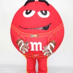 Racing Red M M&M's Custom Mascot Character