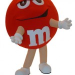 Red M Character M&M Mascot Costume