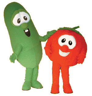 Bob and Larry VeggieTales Promotional Custom Mascots