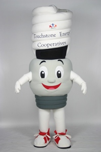 CFL Charlie Touchstone Energy Cooperative Custom Corporate Company Mascot