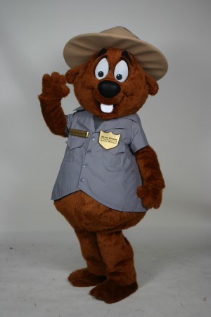 Major Muskrat River Raisin National Battlefield Park custom corporate mascot 1