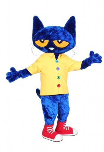 Pete the Cat (Harper Collins) Promotional Mascot Costume Available as Rental