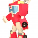 Heatwave Transformers Rescue Bots custom corporate mascot for Hasbro
