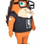 Promotional Brand Mascot Hoover with Tattoo for Loggly.com