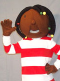 Dreadlock Girl Shakira Mascot Costume