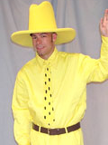 Man in the Yellow Hat Mascot Costume