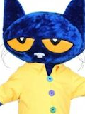 Pete the Cat Mascot Costume