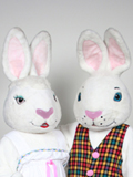 Mr and Mrs White Bunny