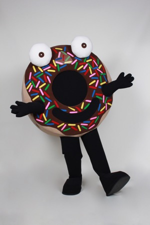 Arnie the Doughnut Promotional Costume Mascot
