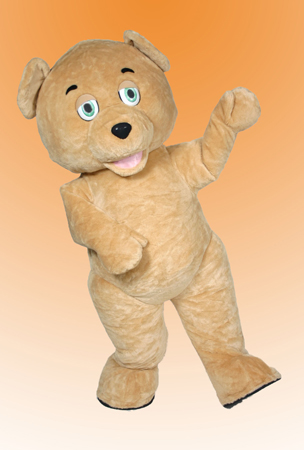Rent this Fun Golden Teddy Bear Mascot for your Costume Event