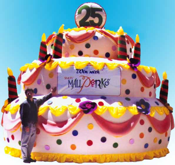 Giant Inflatable Cake Personalized for Rent