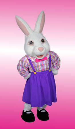 Lady Easter Bunny Rental Mascot Costume