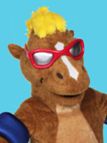 Typhoon Horse Custom Corporate Mascot Costume
