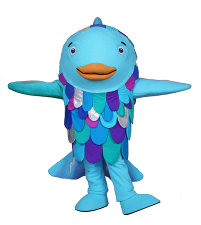 Rainbow Fish Custom Mascot and Promotional Character Costume