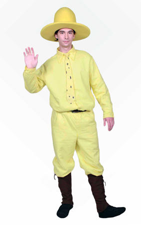Man in the Yellow Hat Custom Mascot and Promotional Character Costume