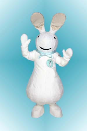Pat the Bunny Custom Promotional Mascot Costume Available as Rental