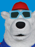 Berkley the Polar Bear Mascot Costume
