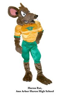 Huron Rat Mascot Costume