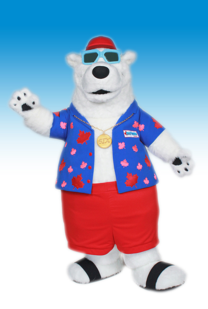 Berkley Wet-n-Wild Polar Bear Mascot Costume