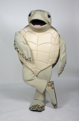 Luna the Green Sea Turtle Mascot Costume
