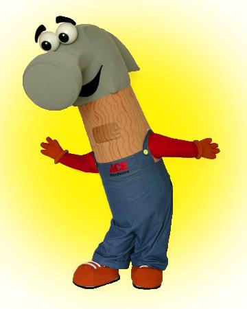 Ace Hardware Hammer Mascot Costume