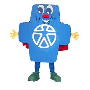Blue Cross Mascot Costume