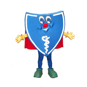 Blue Shield Mascot Costume