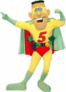 Captain 5 A Day Mascot Costume