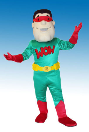 Captain WOW Mascot Costume