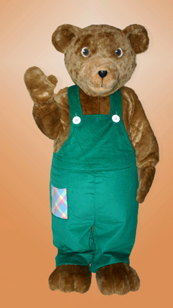 Corduroy Bear Mascot Costume