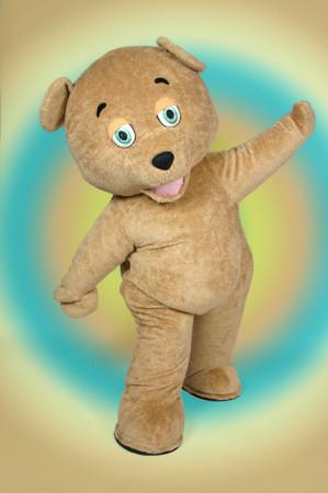Curly Teddy Bear mascot costume