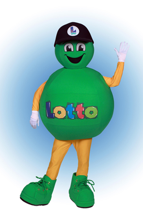 Lotto Ball Louisiana Lottery Mascot Costume