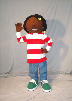 Dreadlock Girl Mascot Costume