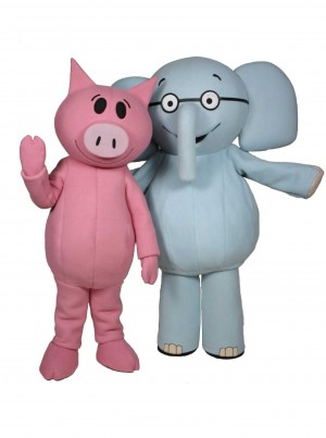Elephant and Piggie Mascot Costume