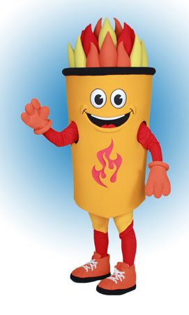 Fulton Torch Mascot Costume