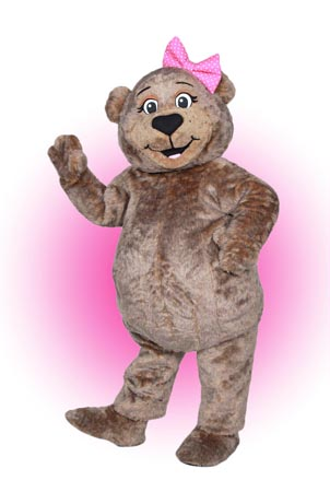Ms Bear Teddy mascot costume