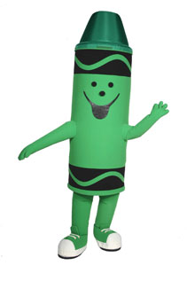 Crayola Crayon Costume Mascot Costume for Rent