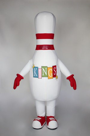 Kings Bowling Mascot Costume