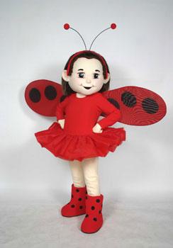 Ladybug Girl Mascot Costume